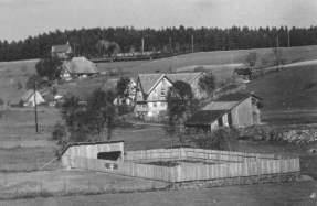 Das Schwimmbad des CVJM im unteren Teufen 1932